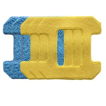 3Pc Wet Cleaning + 2Pc Dry Rubbing Mop Pads For Hobot 268 Window Robot