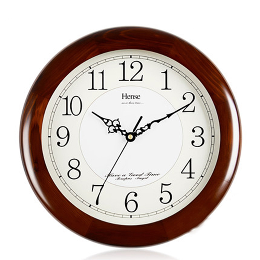 Living Room Vintage Wood Clock Wall Silent Digital Wall Clock Nordic Modern Design Saati Pendule Mural Design Moderne 60C0017