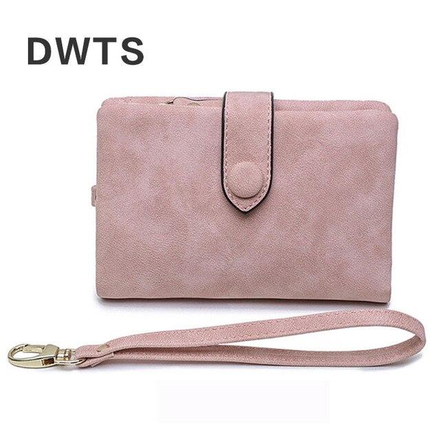 Wallet Female Leather Wallet Matte Wallet Short Cartera Mujer Cute Tri-fold Multi-card Female Wallet 5