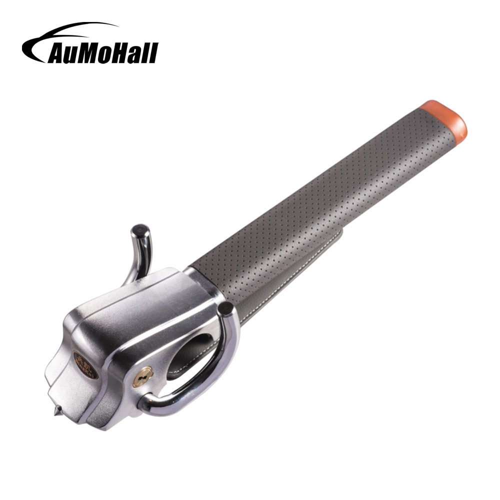AuMoHall Foldable Security Steering Wheel Lock Car Alarm Anti-theft Device Extra Secure Three-direction With Safety Hammer