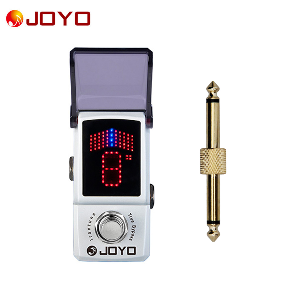 цена на JOYO Irontune Ironman series mini pedal high precision pedal tuner JF-326 Electric guitar electric bass 1pc pedal connector