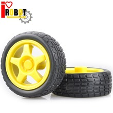 supporting wheels smart car chassis / Tire / robot car wheels diameter 65MM thickness 28MM for arduino #RBP004
