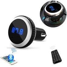 Nueva Venta de Coches Reproductor de MP3 transmisor FM Bluetooth de audio con control remoto inalámbrico modulador de FM Manos Libres de Coche pantalla LCD