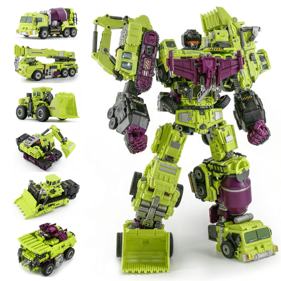 Jinbao GT Devastator Transformation G1 Oversize 6 IN1 Bonecrusher Scrapper Haul Mixmaster Hook KO Action Figure Robot Toys Gifts