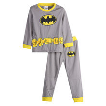 2 pcs sets baby boys sleepwear kids cartoon Heroes cotton long sleeve pajamas pyjamas for -7T 2019