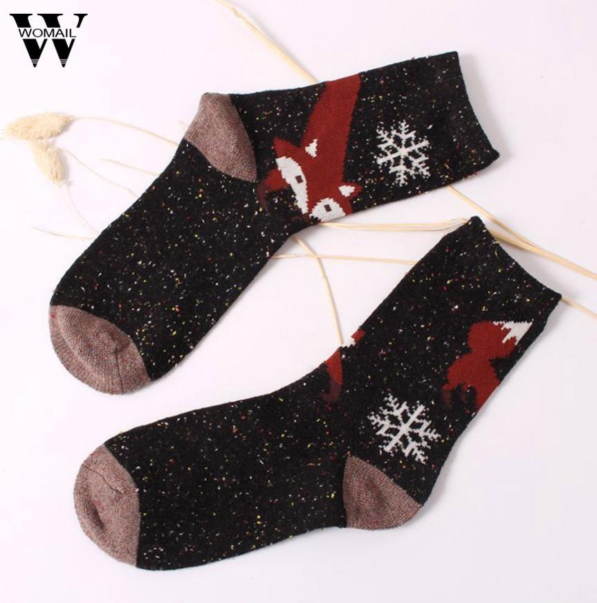 1 Pair Unisex Winter Socks Women Girl Casual Animal Print Sock New Arrival