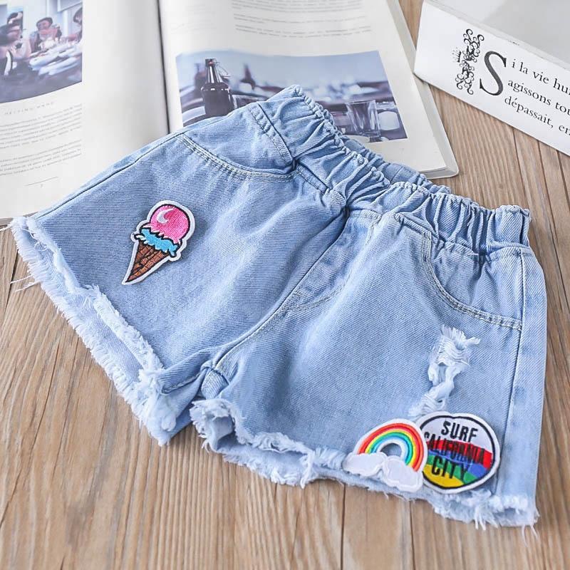 2c03ebcdf Toddler Girl Denim Shorts Fashion Kids Girl Summer Ripped Break Hole Jeans  Short Hot Pants Children's Clothing Wholesale-in Shorts from Mother & Kids  on ...