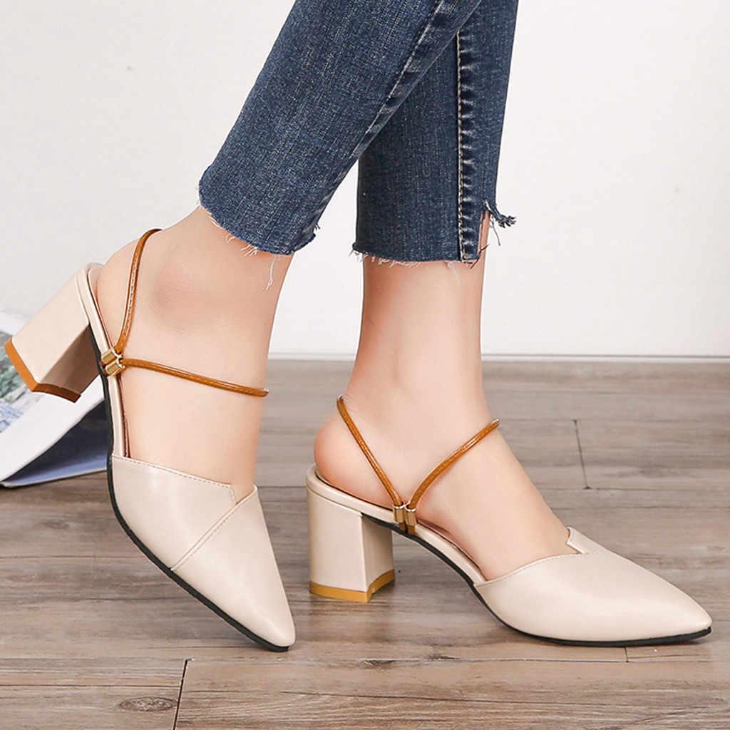 Dames Sexy Hakken Schoenen Vrouw 2019 Zapatos De Mujer Zomer vrouwen Wees Sandalen Fashion Hoge Hakken Slippers Casual schoen Nieuwe