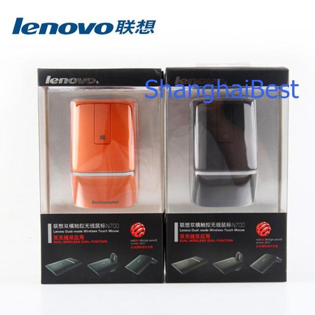 Lenovo N700 Bluetooth 4.0 Chuột Laser Không Dây Cảm Ứng Chuột PPT Người Dẫn Chương Trình Chế Độ Kép Cho iMac Bề Mặt MacBook Pro WIN8 WIN10 XPS HP