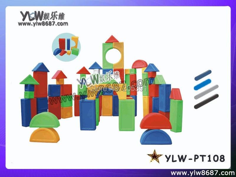 Blocs de jeux jouets pour enfants, jeux de blocs en plastique d'amusement pour centre de jeu, blocs de jouets super grands d'intérieur, blocs de jeu pour enfants