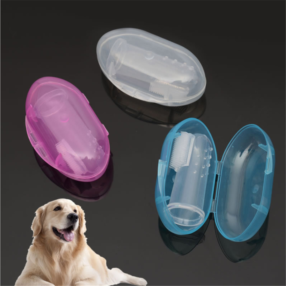 High Quality Rubber Pet Finger Toothbrush Dog Toys Environmental Protection Glove for Dogs and Cats Clean Teeth Pet Accessories image