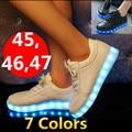 & #83 neakers СВЕТОДИОДНЫЕ обуви 35 ~ 45 46 красочные светящиеся обувь флуоресценции моды обувь женская обувь, USB charaging, 7 цветов