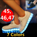 &#83neakers LED shoes 35~45 46  colorful luminous shoes fluorescence fashion shoes women shoes,USB charaging,7 colors