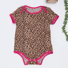 Newborn Cotton Summer Baby boy Girl Romper Leopard Black Girls Clothes Infant Rompers Jumpsuits Newborn Girls Outfits 0-2 Years