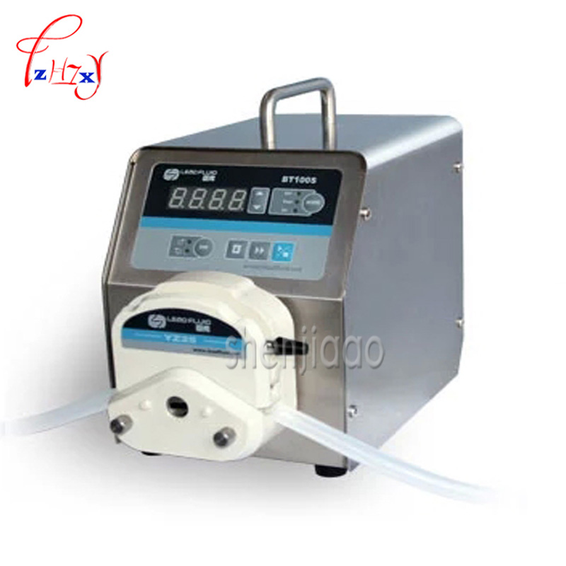 1pc 110v/ 220v led digital display low flow Precise variable speed peristaltic pump for water pumps fluid BT100S / YZ15