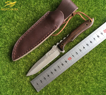 NIGHTHAWK Damascus Knife handle handle fixed blade outdoor tactical survival hunting EDC tool