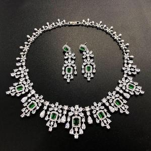 Image 5 - HIBRIDE Elegant Russian Women Bridal Jewelry Set AAA Cubic Zircon Pave Necklace Earring Sets for Engagement Accessories N 1048