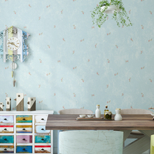 Rustic Small Flower Wallpaper for Walls Beige Blue Green Non-woven Wall Paper Roll Living Room Bedroom Wallcovering papier peint beibehang pure non woven wallpaper fresh korean style small floral wall paper bedroom living room children s room papier peint