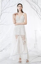 Lace Sleeveless Lace-up V-neck Bandage Slip Dress
