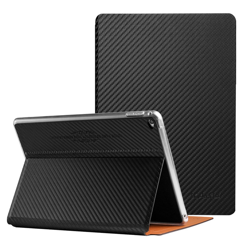 New Fashion Carbon Fibre Style Smart Cover for iPad Mini 1 2 3 Luxury Flip Stand Case PU Leather Tablet Case for iPad Mini 4 foldable pu leather pad cover with flower girl driving style inlaid diamond support stand for ipad mini 3
