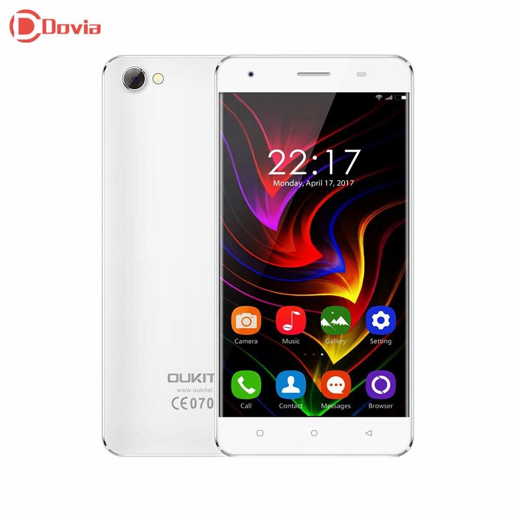 3g smartphone oukitel mtk6737 c5 5.0 pulgadas android 7.0 teléfono Quad Core 2 G