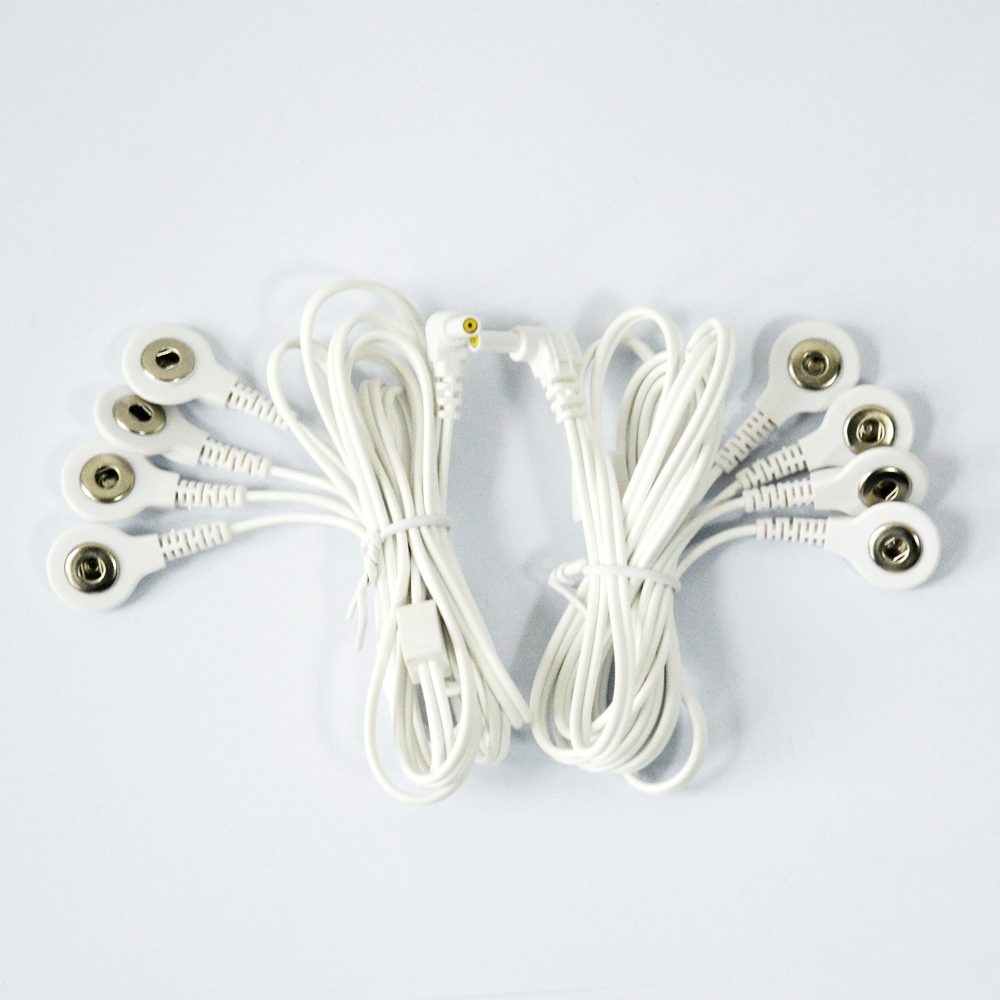 2 Pieces Replacement Jack 235mm Electrode Lead Wires 4 Snap 35mm Wiring Money Domestically For Tens Ems Unit In Massage Relaxation From Beauty Health On