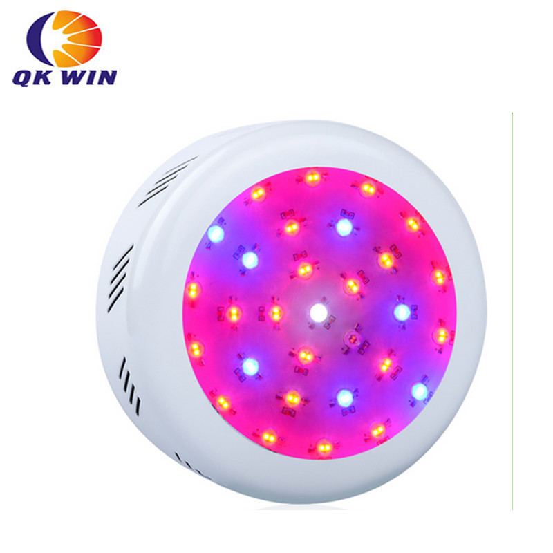 Qkwin UFO 300W LED Grow Light MINI ufo 30x10w Full Spectrum LED Grow Lights For Indoor Plants Flowering And Growing 200w full spectrum led grow lights led lighting for hydroponic indoor medicinal plants growth and flowering grow tent