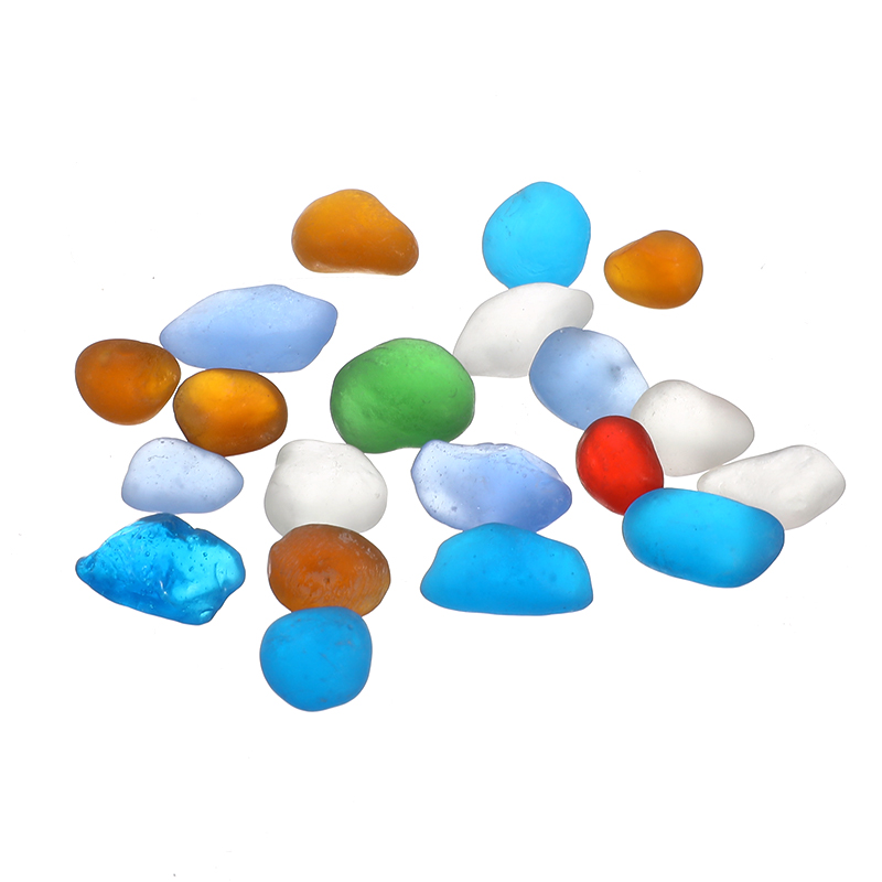 20 Teile/satz Bunte Meer Glas 1-1,6 Cm Ornamente Für Aquarien Terrarien Vase Bonsai Micro Landschaft Diy Decor Craft Hochglanzpoliert