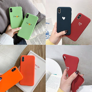 Cute Cases For Oneplus 6T 6 5 5T 3 7 Pro Bumper Oneplus6T Oneplus5T Oneplus6 Oneplus5 Loverly Heart Smile Matte Silicone Covers(China)