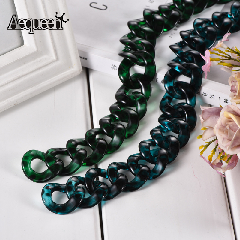 AEQUEEN 60cm Acrylic Resin Bag Straps Chain Shoulder Belts Fish Bone Acrylic DIY Bag Accessories Parts Colorful Handle BeltsAEQUEEN 60cm Acrylic Resin Bag Straps Chain Shoulder Belts Fish Bone Acrylic DIY Bag Accessories Parts Colorful Handle Belts