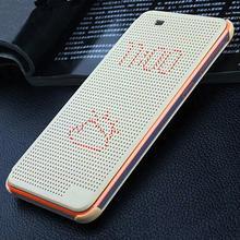 Dot smart View Flip Case Cover For HTC desire 620 820mini Auto Sleep Wake Function Silicon Matrix view Phone dot Case