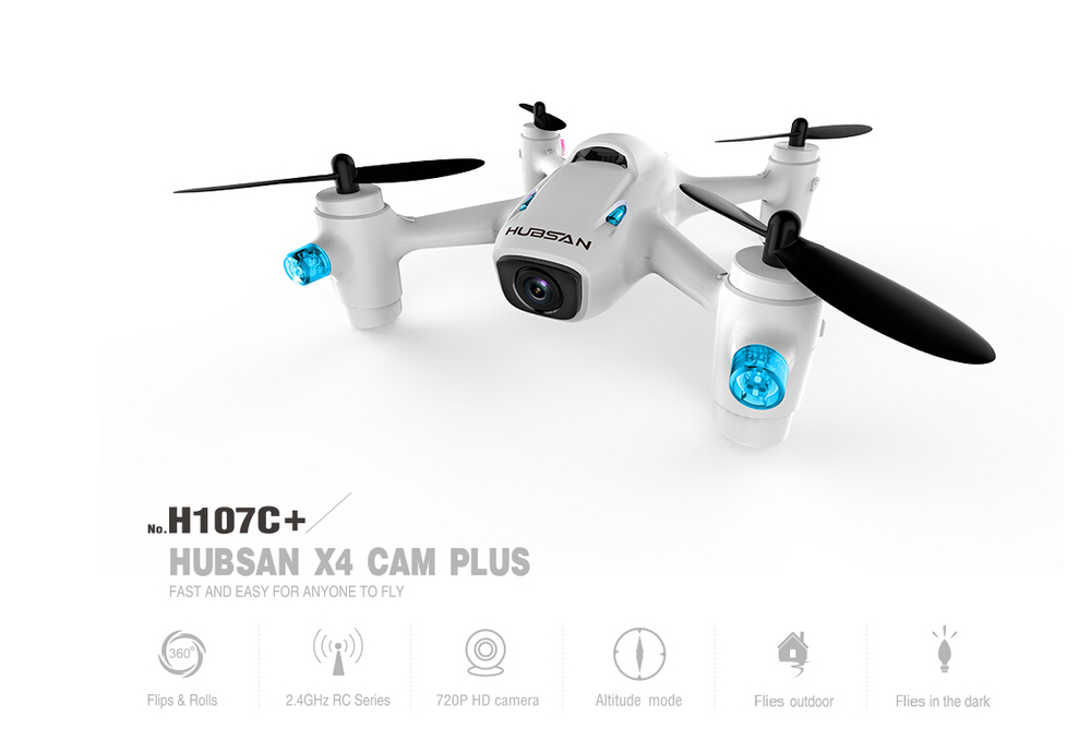 Hubsan X4 Camera Plus H107C+ 2.4G Mini RC Quadcopter with 720P Camera RTF Drone Airplane with Remote control lipo battery 7 4v 2700mah 10c 5pcs batteies with cable for charger hubsan h501s h501c x4 rc quadcopter airplane drone spare