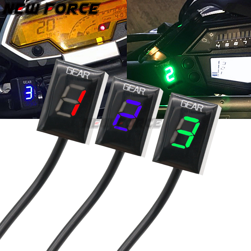 Motorcycle LCD Electronics 6 Speed 1-6 Level Gear Indicator Digital Meter For Harley DAVIDSON Dyna Wide Glide 1580 iniezion
