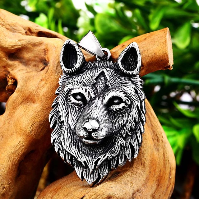 BEIER Punk 316L stainless steel new design howling wolf pendant necklace viking men celt Charm Fashion jewelry Boys gift BP8-352