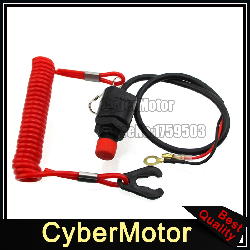 Safety Tether Lanyard Kill Stop Switch For Outboard Motor Boat Jet Ski