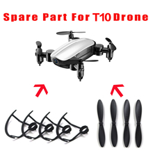 Free shipping Propellers Blade for T10 T10W T10HW Mini Foldable RC Drone Quadcopter Pocket Helicopter Protective frame pare part high qaulity propellers props for eachine e010 jjrc h36 blade inductrix tiny whoop drone part dorp shipping 0424