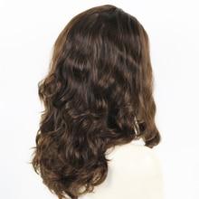 Eversilky 100% European Virgin Human Hair Jewish Wig Shevy Cap Silk Top None Lace Kosher Wigs 130% High Density Wavy Wigs