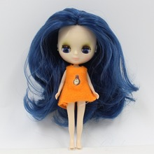 Mini Blythe Doll Nude Factory Petite Blythe Interactive Eyes Parted Hair Free Gift