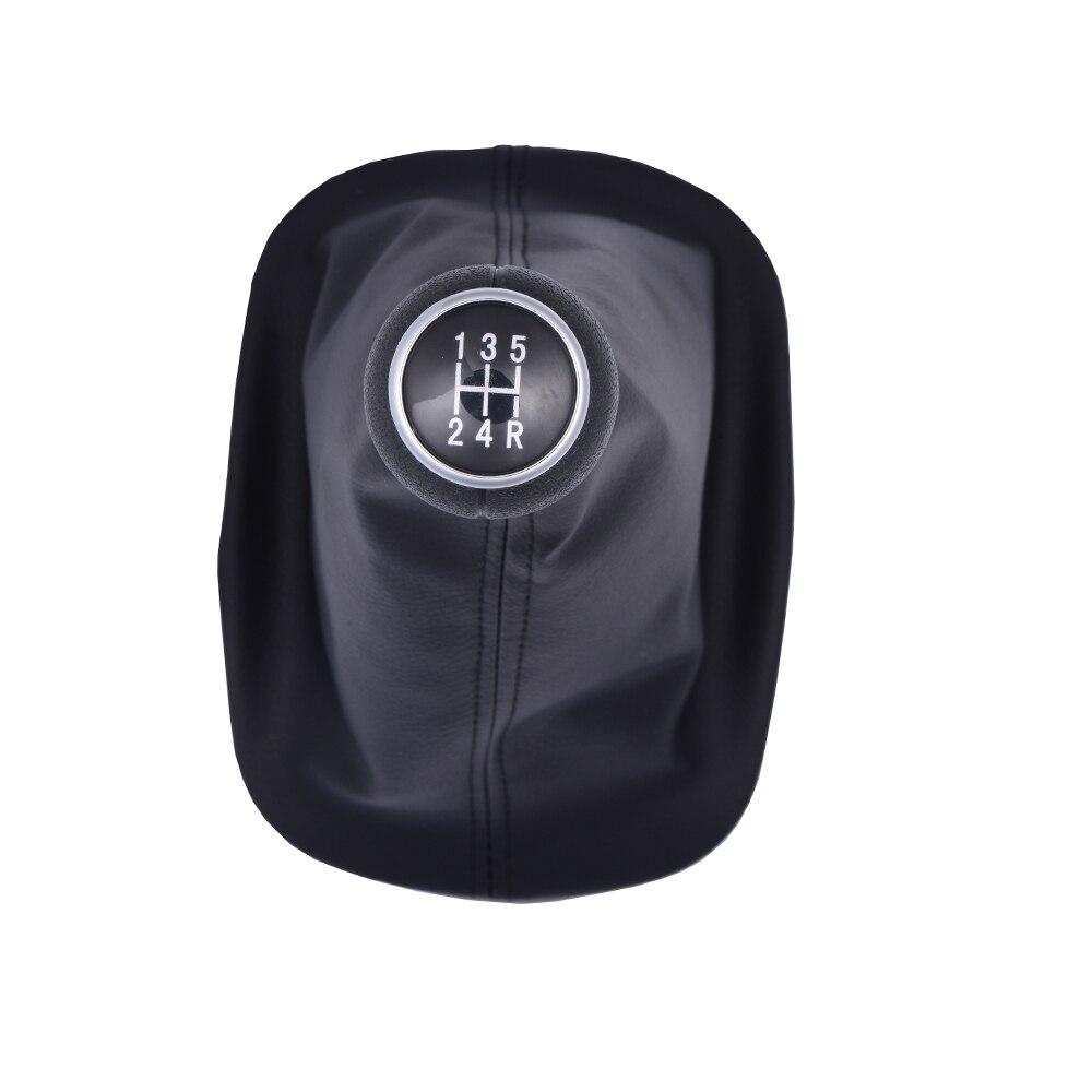 Car Manual Gear Shift Knob With Gaitor Leather Boot Cover For VW PASSAT B5 B5.5 B6 B7 CC Golf 7 Bora Car Stick Lever 5 6 speed for volkswagen bora bora golf 4 lever gear shift lever boot leather shift