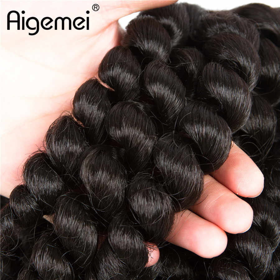 Aigemei  10 inch 80g 20strands Jumpy Wand Curl Crochet Twist Jamaican Bounce Braids Hair Synthetic Braiding High Temperature