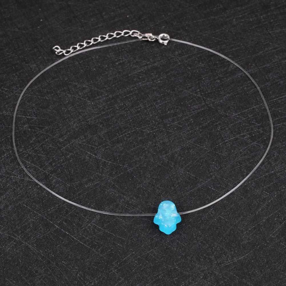 1 PC élégant Opals pendentif tour de cou chaîne breloque collier coeur paume éléphant cou femme bijoux de mode cadeaux