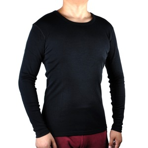 Image 2 - 男性ピュア 100% メリノウール冬長袖熱暖かいセーター下着厚いカーディガンボトムパンツセット遠征