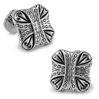 SPARTA White Gold Electroplated The letter stone Cufflinks men's Cuff Links + Free Shipping !!! metal buttons