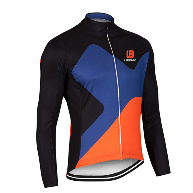 Men Cycling Jersey Quick Dry Anti-sweat Long Sleeve Autumn Spring Clothing Bicicleta MTB Maillot Ropa Ciclismo Hombre LONG21
