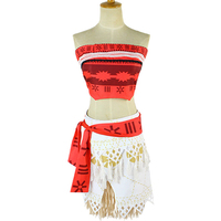 10pcs Lot Movie Princess Moana Costume For Kids Moana Princess Dress Cosplay Costume Children Halloween Costume
