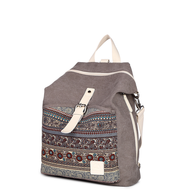 Canvasartisan Women's backpack for teenage girls Vintage Canvas Shoulder Bags ladie crossbody bags Female Travel Laptop Bag X716