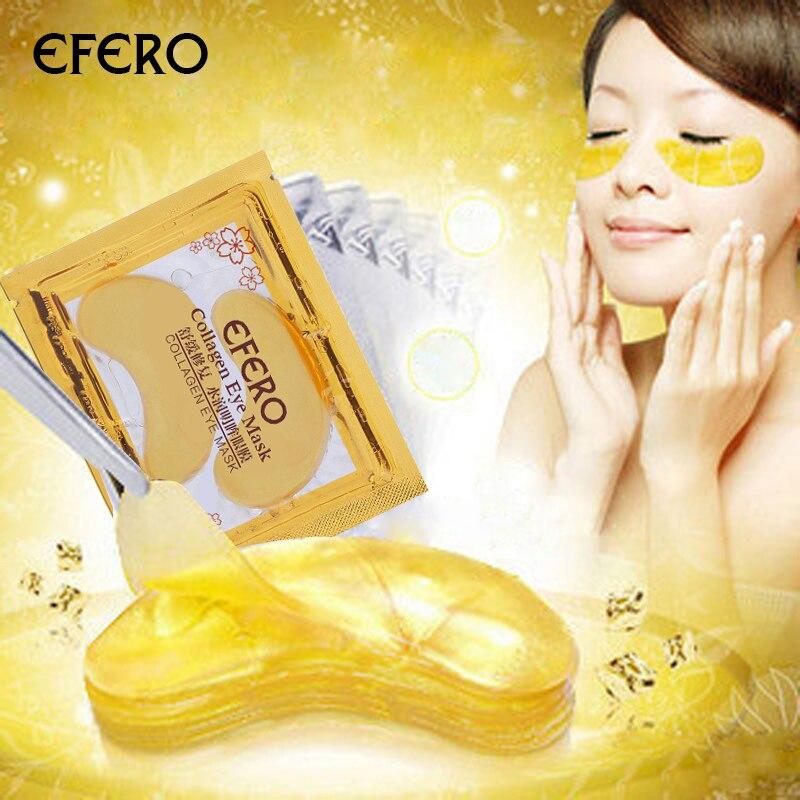 Pacote 5 EFERO Patches de Olho Ouro Colágeno Máscara de Olho Remendo Máscara de Olho para os Olhos de Cristal Ouro Máscaras Anti círculo escuro Remendo Pálpebra