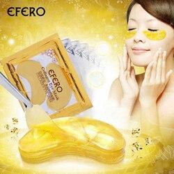 5 Пак EFERO Коллаген Золотой глаз патч для кожи вокруг глаз лицо патч для кожи вокруг глаз es для глаз Кристальные золотые маски Анти темный круг...