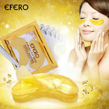 5 Pack EFERO Collageen Gouden Oogmasker Eye Patch Gezichtsmasker Eye Patches voor de Ogen Crystal Gold Anti Dark Circle Hydraterende Crème