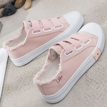 TAOFFEN Women Casual Shoes Fashion Solid Color Sweet Shallow Flats Daily Leisure Elastic Band Print Shoes Women Size 35-40 1
